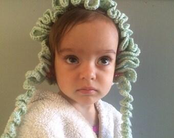 Cork Screw Baby Bonnet