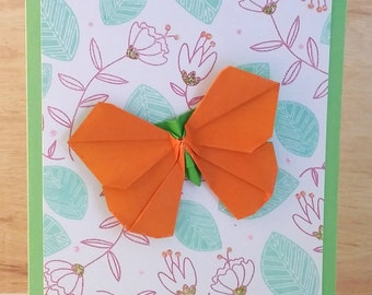 Handmade Origami Butterfly Card