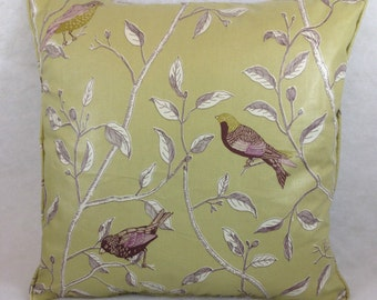Sanderson Finches Sage Cushion Covers