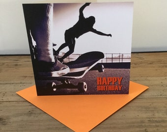 Skateboard Happy Birthday Card
