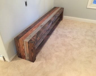 Weathered Wooden Rustic Entertainment Center