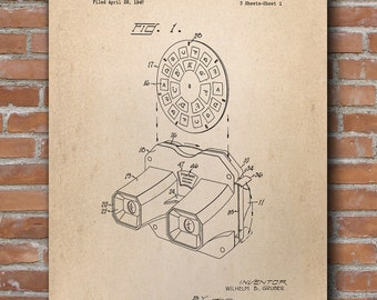 Stereoscopic Viewer Patent, Photographer Gift, Kid Room Decor, Patent Poster - DA0530