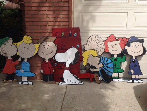 Charlie Brown Christmas Lawn Decorations By HolidayLawnCutouts