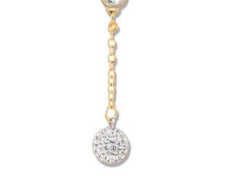 Dangling Crystal Disco Ball Iphone Smart phone Charm Anti dust Earphone plug a101