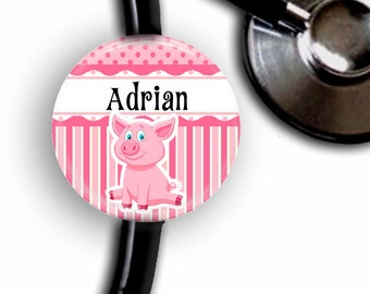 This Little Piggy Personalized Stethoscope ID Tag