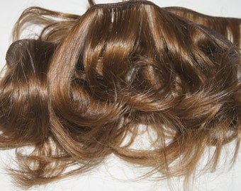 Remy hair extension clip on human golden brown curly long