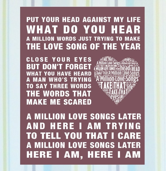 Gary Barlow - Million Love Songs Later Lyrics | MetroLyrics