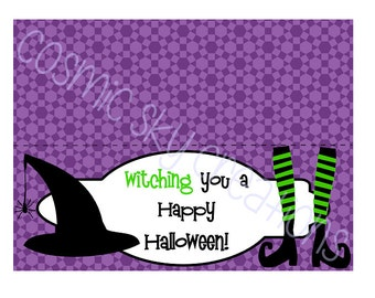 Witch Halloween Treat Bag Topper