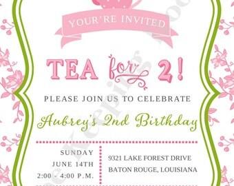 Tea for 2 Birthday Invitation