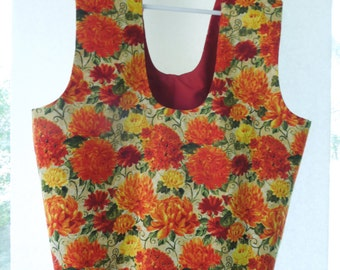 Sturdy, Reversible, Eco Friendly Fabric Shopping Bag