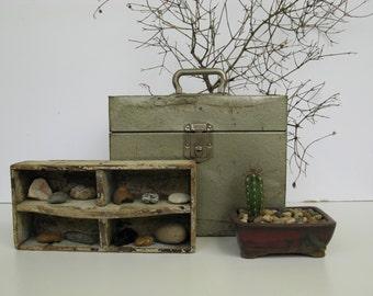 Rustic Metal Box, Vintage File Box, Metal File Box, Rustic Storage, Rustic Decor