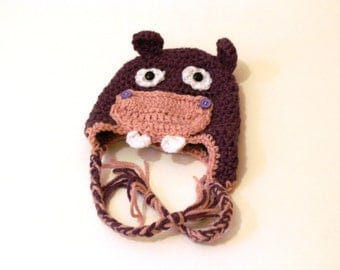 All Sizes - Crocheted Hippo Toque Hat