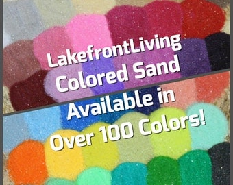 Unity Colored Sand for Wedding Unity Sand - Craft Projects, Kids Play or Fairy Garden