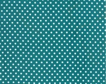 Moda Fabrics Basic Dots Turquoise - Dottie Small Dots Lagoon- 45009 72