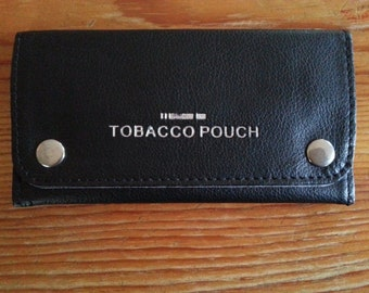 Good Quality Soft Leather Tobacco Pouch Fully Lined (black/red/dark blue/tan brown