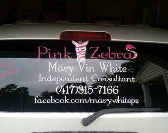 Custom Pink Zebra Window Decal - Advertise Your Business!