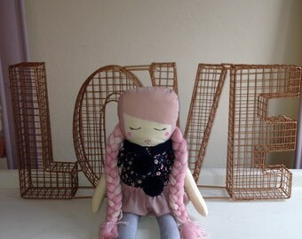 Girl cloth doll #8 by Kk and Boo