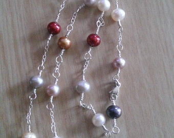 fresh water pearls, sterling silver jewelry , fresh water pearls jewelry
