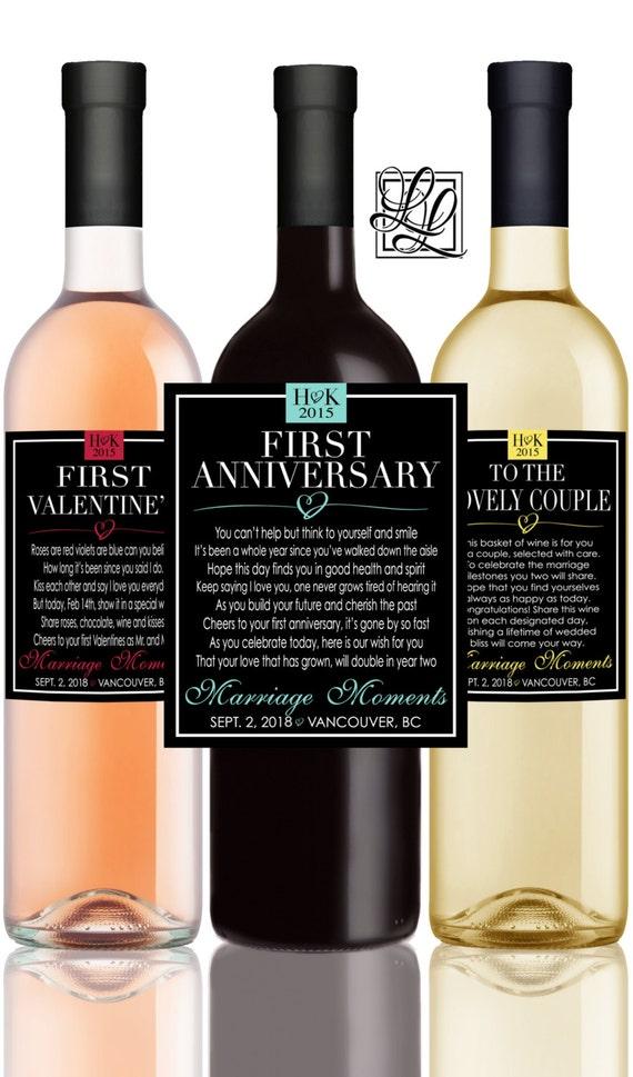 Milestones Poems Wedding Gift Wine Champagne Bottle Label - First ...