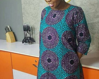 African print dress for ladies