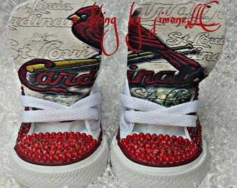Sports Cardinals wrapped custom Converse