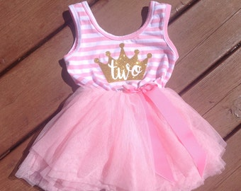 Second Birthday Princess Dress