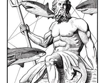 Poseidon Reproduction Print