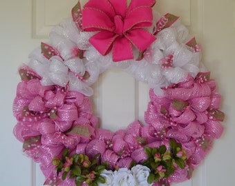 Valentine Deco Mesh and Tulle Wreath