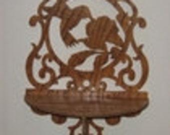 Handmade Victorian Hummingbird Wall Shelf