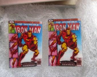 Iron Man Comic Book Cover Cufflinks / Earrings
