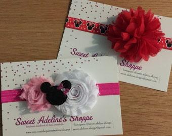 Minnie Mouse Headband, Minnie Mouse Bow