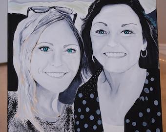 Original Art Work by Amy Lynne Baffa- Custom People Portraits- Size Can Vary
