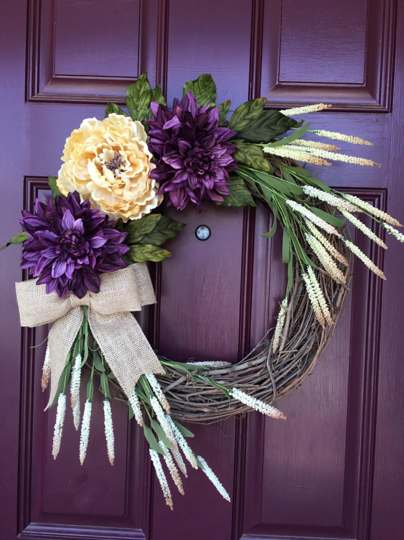 Front Door Wreath Fall Wreath All Season Wreath Grapevine