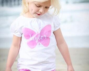 Personalized Butterflies Onesie / TShirt