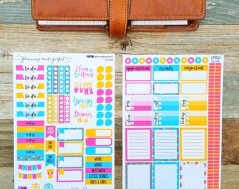 Hot Air Balloon Ride Weekly Planner Stickers (Set06)
