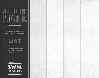 White Textured Backgrounds - Instant Download