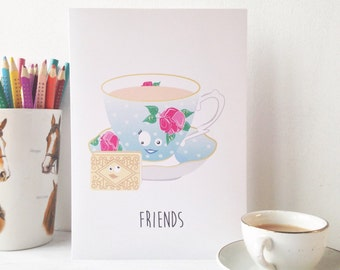 Pack of 3 friendship cards. Friends, besties and mates