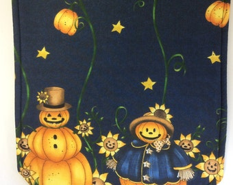 """PRIVATE LISTING For KATHI/Halloween Table Runner/57"""" Long/2 Handtowels/2 10"""" x 10"""" Potholders with Heat Resistant Lining"""