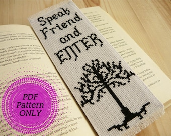 Pattern - Cross stitch bookmark - Lord of the Rings (download pdf)