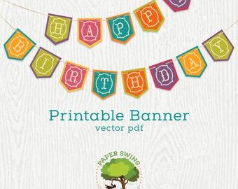 Printable Happy Birthday Fiesta Banner (Flag)