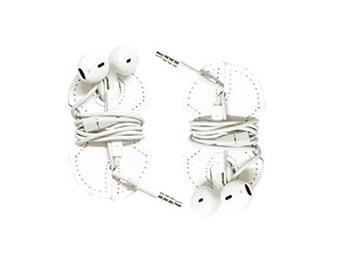Leather Headphone Wrap 2-Pack Handmade by Hide & Drink - White