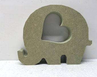 MDF baby Elephant with Heart