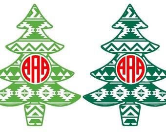 Aztec Christmas Tree Iron on Heat Transfer