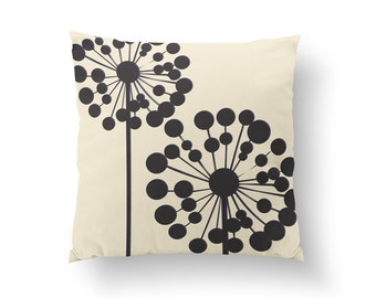 Dandelion Pillow, Flower Illustration Pillow, Home Decor, Cushion Cover, Throw Pillow, Bedroom Decor, Bed Pillow, Decorative Pillow,