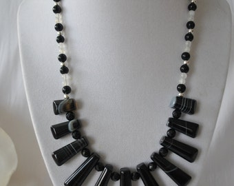Banded Onyx Tribal Necklace