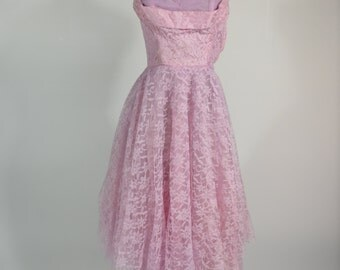 Tiny 1950s Purple Prom Dress