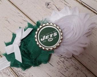 New York Jets elastic headband - baby - toddler - child - adult