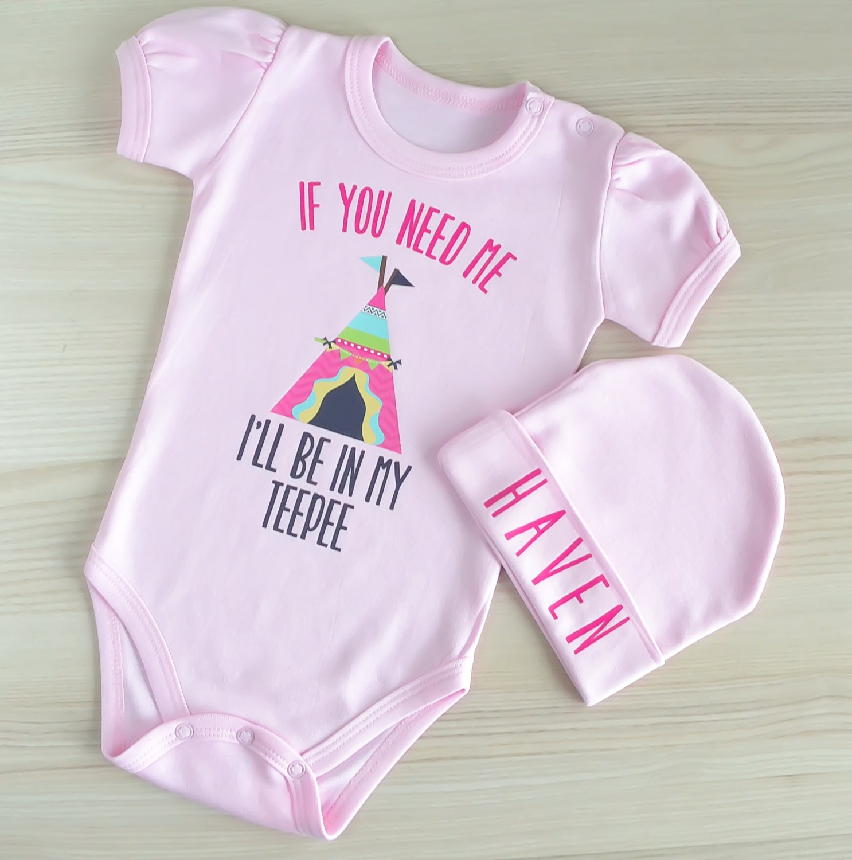Cute Boho Baby Girl Clothes Teepee Baby by LittlePrincessTara