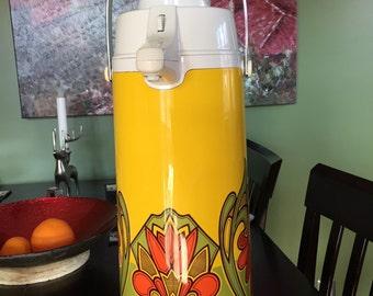 Vintage Beverage Dispenser in Retro Funky Design