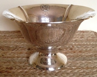 Antique Sterling Silver Bowl by Art Silver Shop, Chicago Art Silver Shop Bowl, Hand Wrought Sterling Bowl, Sterling Footed Bowl c. 1918-1934